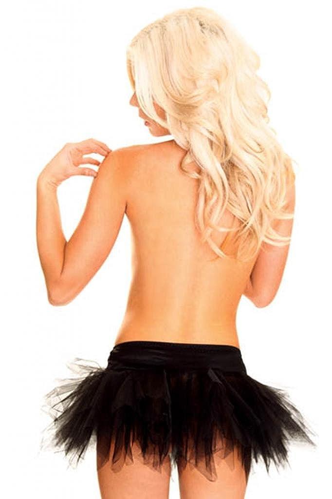 Lotsyle Womens Lace Tutu Petticoat Corset Skirt