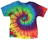 toddler girls tie dye - Short Sleeve Tie-Dye T-Shirt - Reactive Rainbow -Toddler - Assorted Sizes (3T)