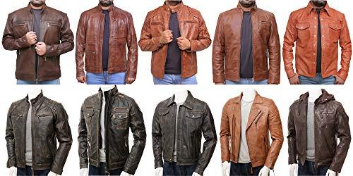 Spikey Biker Hand-Stitched Jacket for Men