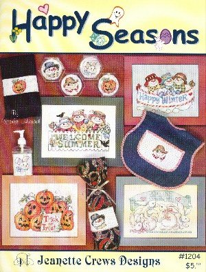 Happy Seasons (Jeanette Crews Designs #1204 Cross Stitch Pattern)
