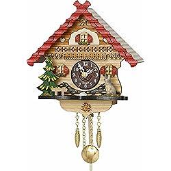 Kuckulino Black Forest Clock with quartz movement with Cat