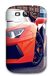 Hot 3953739K93300119 First-class Case Cover For Galaxy S3 Dual Protection Cover New Lamborghini Aventador