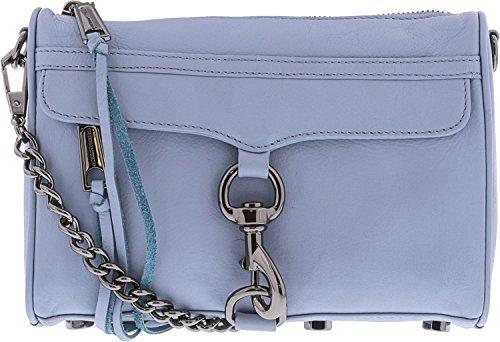 Rebecca Minkoff Mini Mac Leather Crossbody, Blue