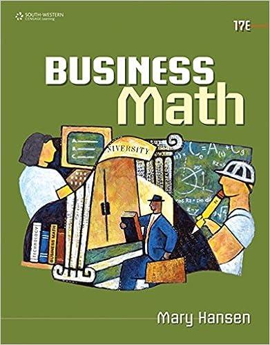Amazon.c: Business Math (9780538448734): Mary Hansen: Books