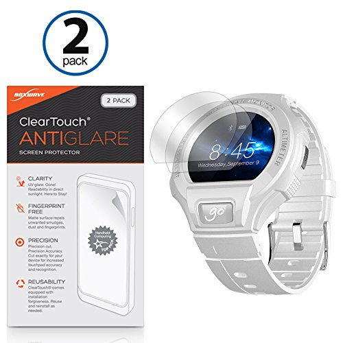 Alcatel OneTouch Go Watch Screen Protector, BoxWave [ClearTouch Anti-Glare (2-Pack)] Anti-Fingerprint Matte Film Skin for Alcatel OneTouch Go Watch (Alcatel Touch 0 One)
