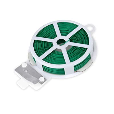 Brakites Twist Tie 328ft (100m), Multi-Function Garden Plant Twist Tie with Cutter for Gardening, Office, Home Cable Organizing (Green): Pet Supplies