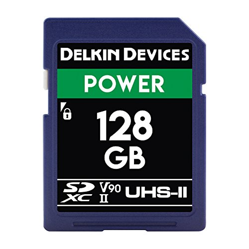 Delkin Devices 128GB Power SDXC 2000X UHS-II (U3/V90) Memory Card (DDSDG2000128) by Delkin (Image #1)