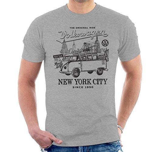 Volkswagen Camper New York City Men's T-Shirt Heather Grey