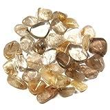 Tumbled Rutilated Quartz Extra (Mostly 5/8 - 1-1/2) - 1lb. Bag by Healing Crystals