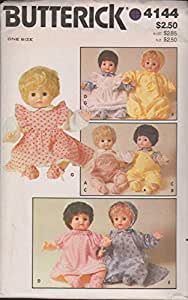 Doll's Clothes Butterick 4144 Vintage Sewing Pattern