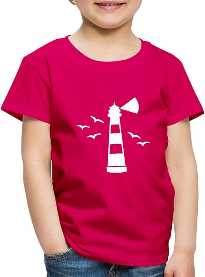 Leuchtturm Mit Möwen Kinder Premium T Shirt Bekleidung