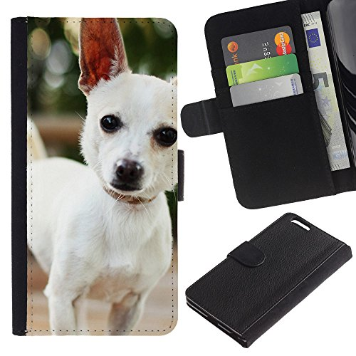 EuroCase - Apple Iphone 6 PLUS 5.5 - Cute Chihuauah Dog - Cuir PU Coverture Shell Armure Coque Coq Cas Etui Housse Case Cover