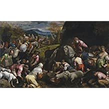 Oil Painting 'Bassano Jacopo Israelites Drinking The Miraculous Water 1566 68 ' Printing On Polyster Canvas , 10 X 16 Inch / 25 X 41 Cm ,the Best Laundry Room Decoration And Home Artwork And Gifts Is This High Definition Art Decorative Prints On Canvas