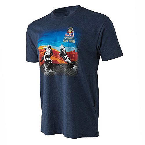 Red Bull Straight Rhythm Visual Tee Navy Blue Large