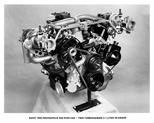 Amazon com: 1983 Buick Riviera Indy 500 Pace Car Engine Photo