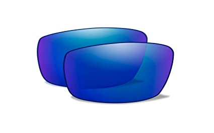 0d34ab7c91 Image Unavailable. Image not available for. Color  Wiley X Gravity  Polarized Blue Mirror ...