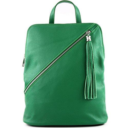 zaino in pelle zaino 3in1 zaino Citybag T141, Präzise Farbe (nur Farbe):T161 Grün