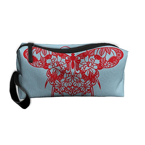 Portable Travel Storage Bags Red Butterfly Clipart Clutch Wallets Pouch Coin Purse Zipper Holder Pencil Bag,kits Medicine And Makeup Bags Purse Clipart