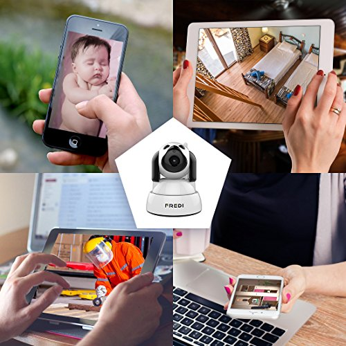 FREDI Wireless Camera Baby Monitor 720P HD Wireless Security Camera With Two-Way Talking,Infrared Night Vision,Pan Tilt,P2P Wps Ir-Cut Nanny ip Camera Motion Detection