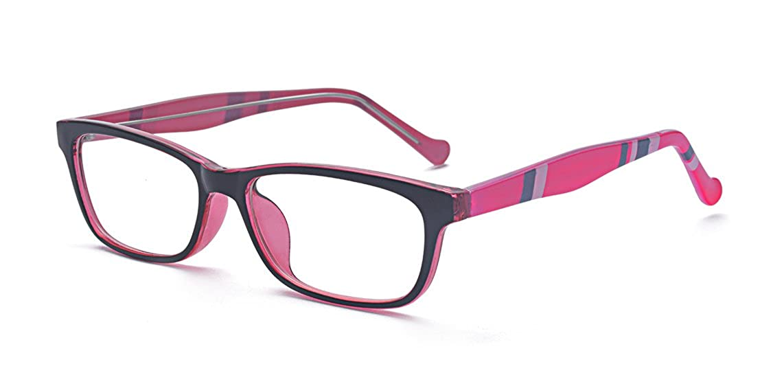 Kelens Unisex Clear Lens Glasses Squared Fashion Frames with Stripe Print CAG2717-2
