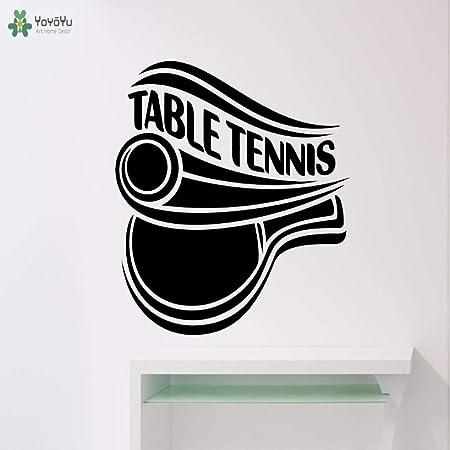 yaoxingfu Tatuajes de Pared Tenis de Mesa Deporte Pegatinas ...