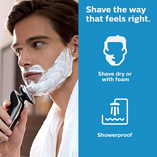 Philips Norelco S9721/89 Shaver 9700 with SmartClean, Rechargeable Wet/Dry Electric Shaver with Cleansing Brush Attachment