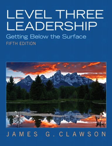 Price comparison product image Level Three Leadership: Getting Below the Surface (5th Edition)