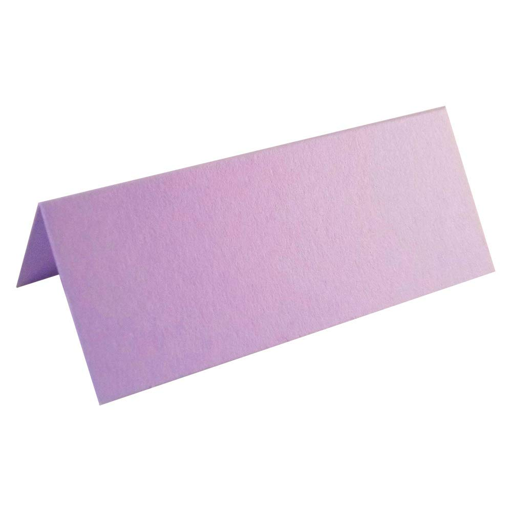 100 x Lilac Blank Wedding Table Name Place Cards UK Card Crafts