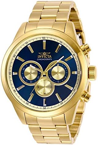 Invicta Men s Specialty Quartz Watch with Stainless Steel Strap, Gold, 22 Model 29175