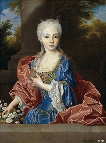 Polyster Canvas ,the Vivid Art Decorative Canvas Prints Of Oil Painting 'Ranc Jean Maria Ana Victoria De Borbon After 1725 ', 16 X 22 Inch / 41 X 55 Cm Is Best For Bar Decor And Home Decoration And Gifts