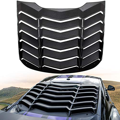 E-cowlboy Rear Window Louver for Ford Mustang 2015-2019 Sun Shade Cover in GT Lambo Style Matte - Rear Louver Mustang Window Ford
