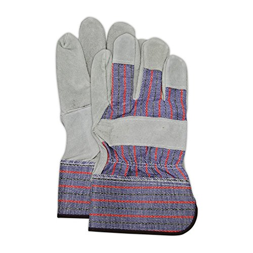 Gray Leather Palm Glove (Magid Glove & Safety TB325IEST-XL Cow Split Leather Palm Glove, XL, Gray (Pack of 12))