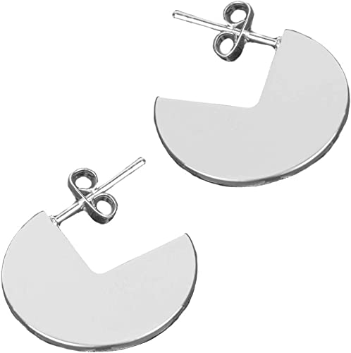 Semicircle Earrings Half Hoop Disc Earring for Women Girls