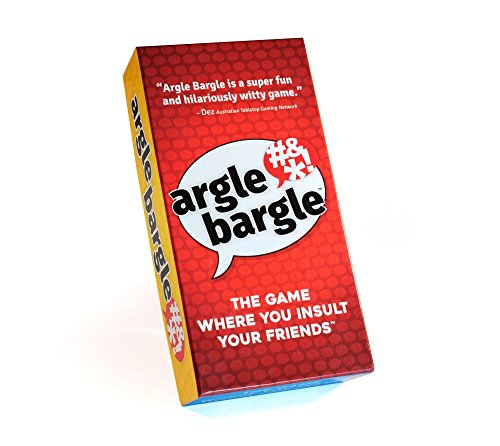 Argle Bargle: The Game Where You Insult Your Friends | Hilarious Family Friendly Card Game in time for Your Holiday Gatherings and Party Game Nights. Teens+ 2-8 Players <20 min