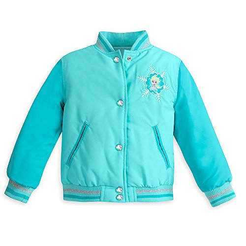 Disney Elsa Varsity Jacket for Girls - Frozen - Size 5/6 (Disney Varsity Jacket)