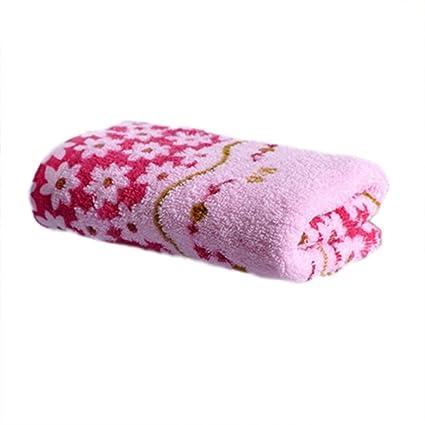 Vollter 33 x 73cm de algodón estampado de toalla absorbente seco toallas de mano se enfrentan