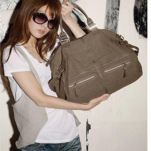 Bags Canvas Bags Purse Shopping For Tote Work Khaki �� Casual Handbag Big Women Bags Hobo Travel Bags Shoulder Bag 55wBHqFr