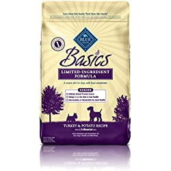 BLUE Basics Limited Ingredient Diet Senior Turkey & Potato Dry Dog Food 24-lb