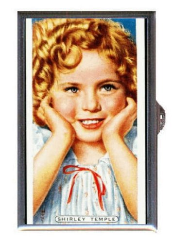 1935 Shirley Temple Cigarette Card Hollywood Portrait Guitar Pick or Pill Box USA Made