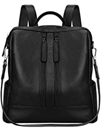 Women Genuine Leather Backpack Casual Shoulder Bag Purse...