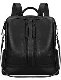 Women Genuine Leather Backpack Casual Shoulder Bag Purse Medium