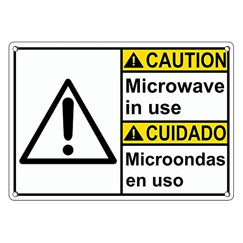 Weatherproof Plastic ANSI Caution Microwave in Use ...