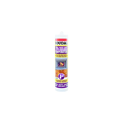 Soudal Outillage 3682 - Masilla refractaria, 300 ml