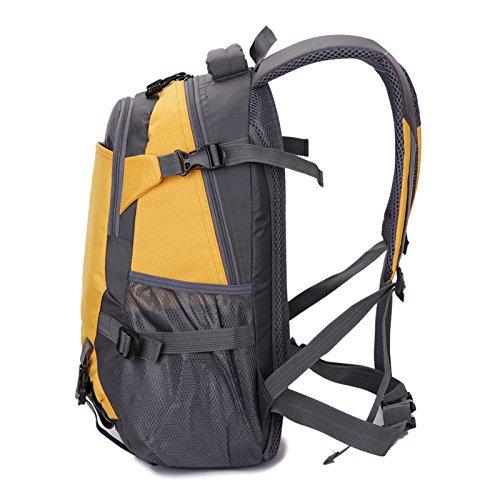 Mountaineering Bag Outdoor Männer und Frauen Schulter Rucksack Wanderpackage Bergsteigen Taschen , Rose rot 25l