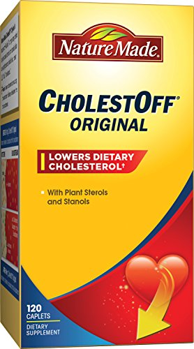 Nature Made CholestOff Original Caplets w. Plant Sterols & Stanols Value Size 120 ct