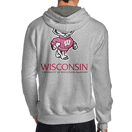 JKUI9 Men's University Of Wisconsin-madison Sweater On The Back Size M (Bucky Badger Mascot Costume)