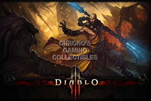 Diablo CGC Huge Poster Glossy Finish III PS3 PS4 Xbox 360 ONE - Class Monk - DIA015 (24