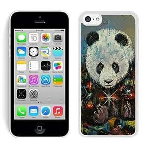 Customized Iphone 5C TPU Case Christmas Panda White iPhone 5C Case 1