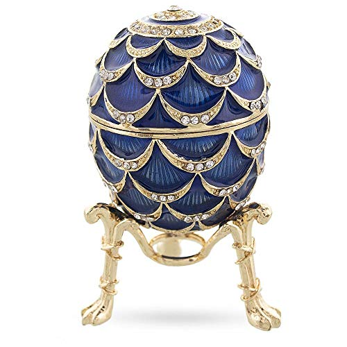 (BestPysanky Royal Inspired Pinecone Russian Egg with Clock)
