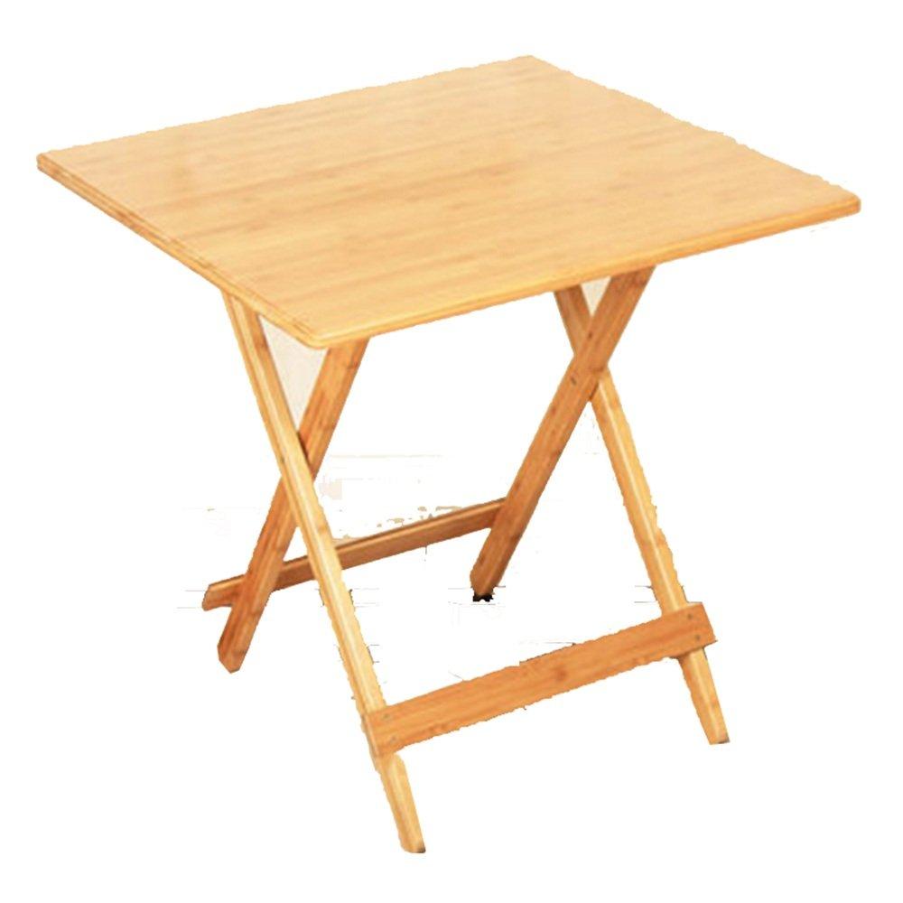 LHA テーブル 自然な折りたたみテーブル、頑丈で耐久性、折り畳み可能、便利 (サイズ さいず : 70 * 70 * 70cm) 70*70*70cm  B07GN1BPZH